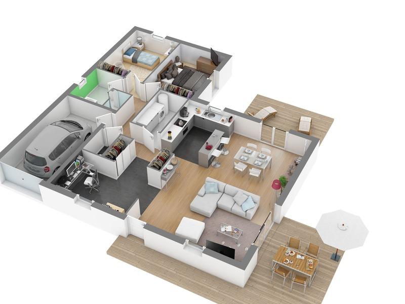 demeures de la c te d 39 argent andoins maisons de 4 pi ces 201348 superimmoneuf. Black Bedroom Furniture Sets. Home Design Ideas