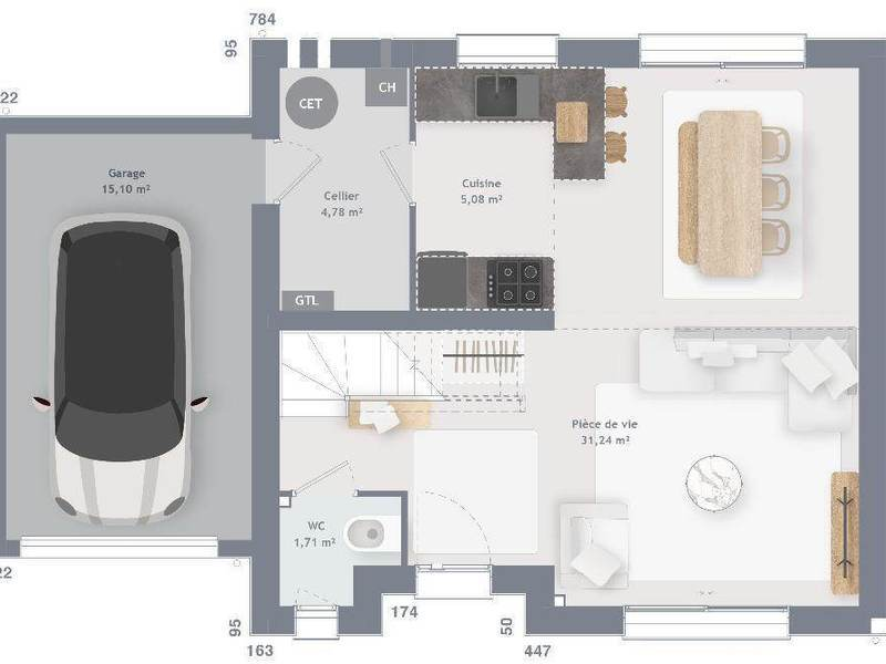Maison neuve, 80 m²