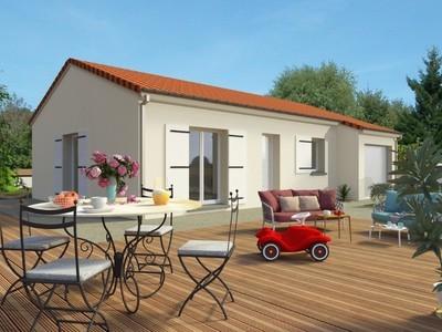 Maison neuve, 75 m² - Maurs (15600)