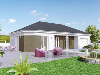 Maison neuve, 95 m² - Saint-Vallier (71230)