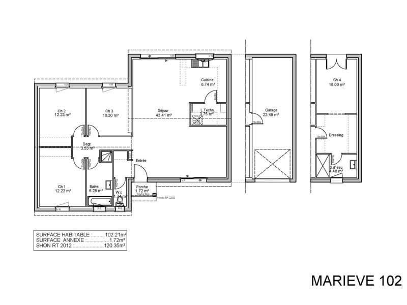 demeures de la c te d 39 argent lembras maisons de 4 pi ces 153400 superimmoneuf. Black Bedroom Furniture Sets. Home Design Ideas