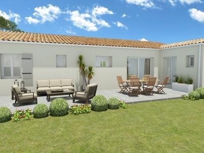 Maison neuve, 104,3 m² - Breuillet (17920)