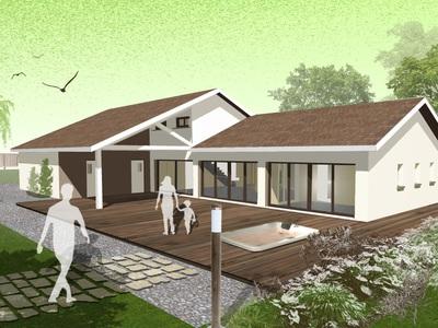 Maison neuve avec jardin à Crottet