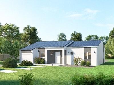 Maison neuve, 80 m² - Sarliac-sur-l'Isle (24420)