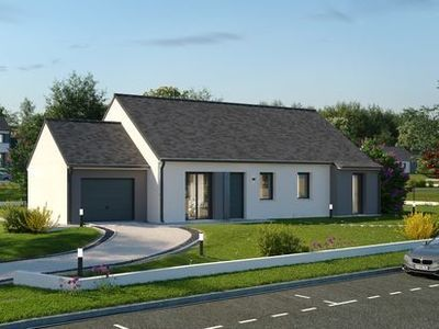 Maison neuve, 87,94 m² - Crevant (36140)